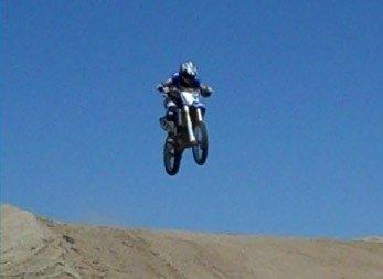 Daniel Sweet getting MOTOMENTAL air at Cahuilla Creek MX in Anza, CA